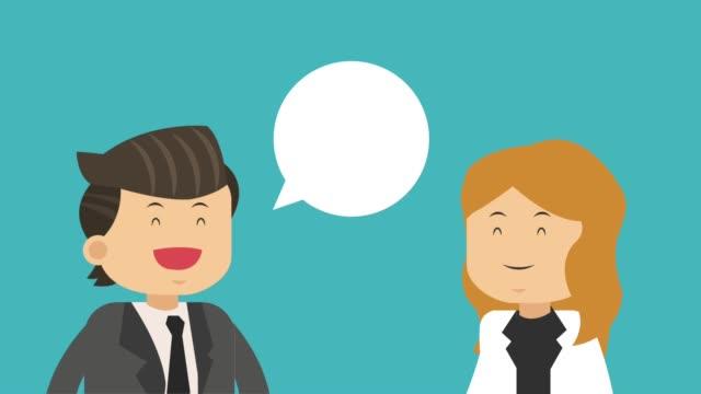 Business teamwork cartoon HD animation video