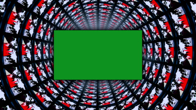 Business Tunnel with Green Screen Monitor, Loop video