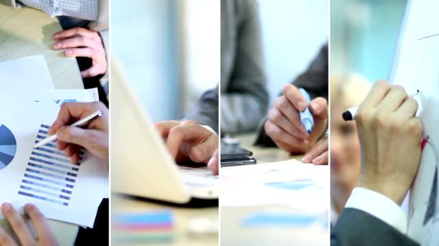 stockvideo's en b-roll-footage met business. video wall. - dubbelopname businessman