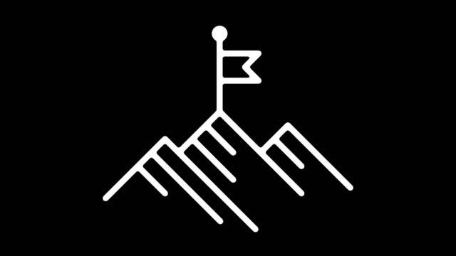 vídeos de stock e filmes b-roll de business vision statement line icon animation with alpha - simplicidade