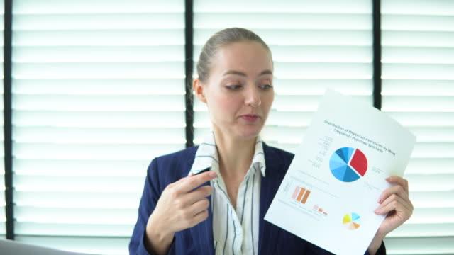 Business woman portrait talking
