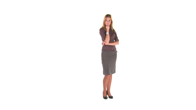 HD: Business Woman Posing  physical position stock videos & royalty-free footage