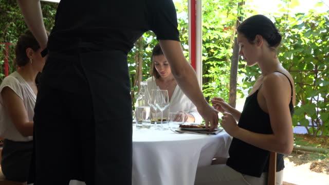 Business women meeting in a fine dining restaurant