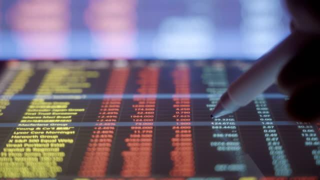 Businessman analysis stock market data with digital tablet
