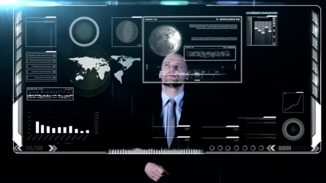 Businessman analyzing. video