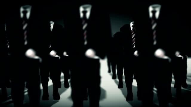 geschäftsmann army - geköpft stock-videos und b-roll-filmmaterial