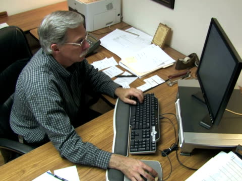 Businessman at Desk 2 video
