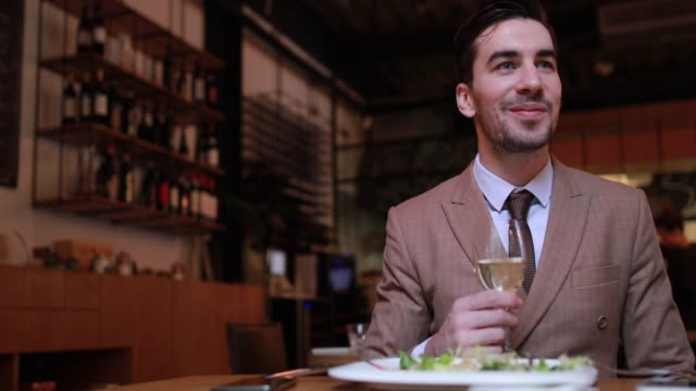 Businessman At Lunch Meeting video