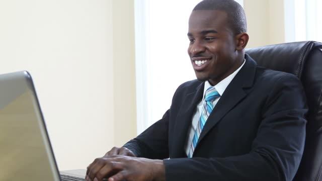 Businessman at work video