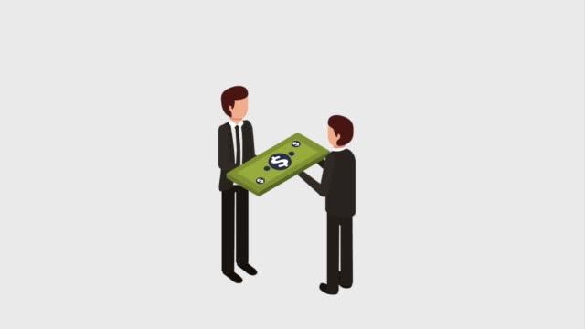 businessman banking money - reso video stock e b–roll