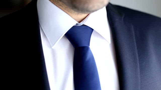 businessman blue tie - annodare video stock e b–roll