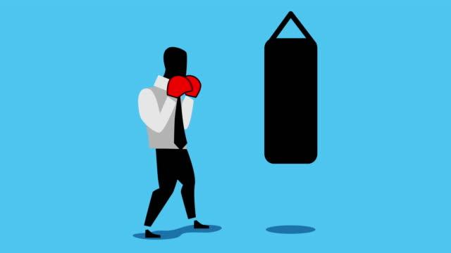 businessman boxing.