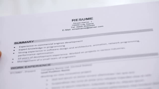 Royalty Free Resume HD Video, 4K Stock Footage & B-Roll - iStock