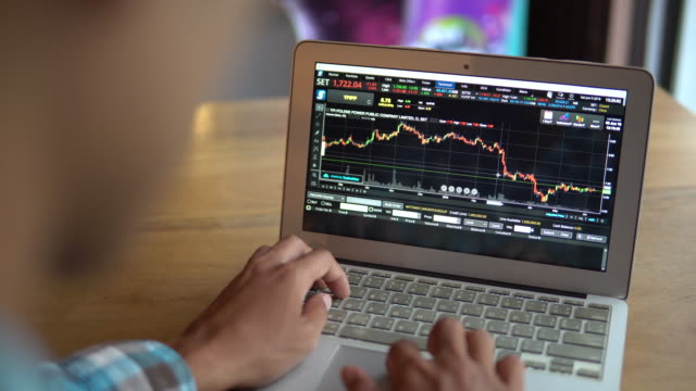 Businessman Checking Stock market data