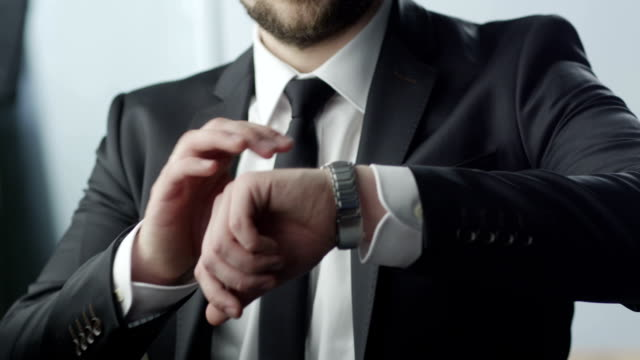 Businessman Checking the Time video