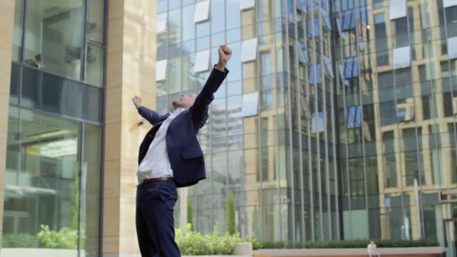 Businessman Cheering The Success video