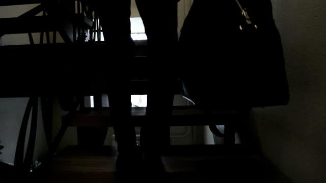 Businessman climbs up the ladder video