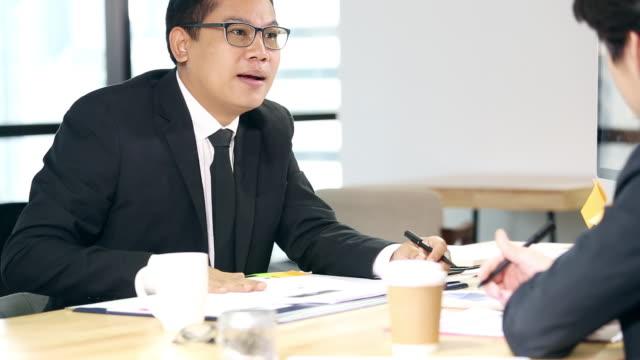 Businessman doing job interview
