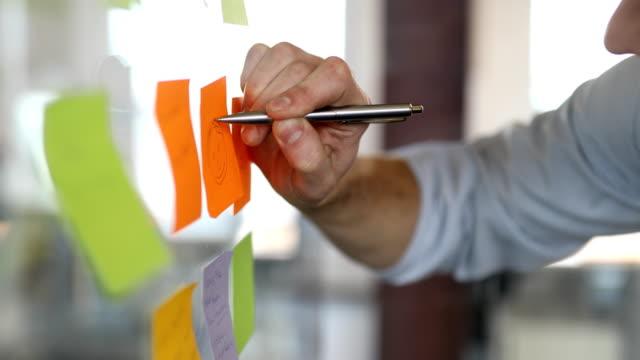geschäftsmann zeichnung gesicht auf note im büro - smiley stock-videos und b-roll-filmmaterial
