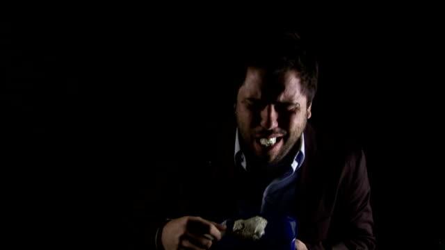 Businessman eating Ice Cream video