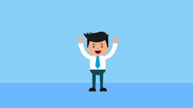 実業家金融お金 - 拳 イラスト点の映像素材/bロール