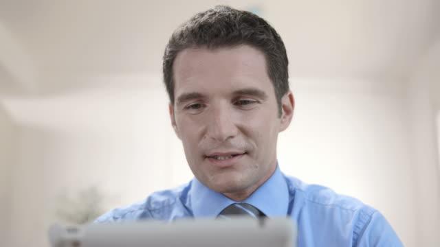 HD: Businessman Having Video Conference In Underwear video