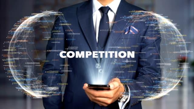 Businessman Hologram Concept Economics - Competition