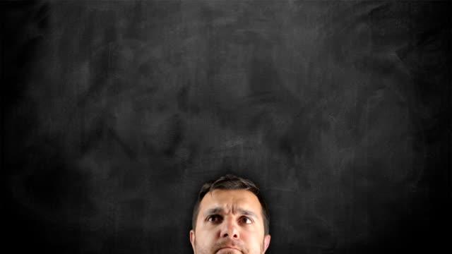 Businessman Idea Concept on blackboard video