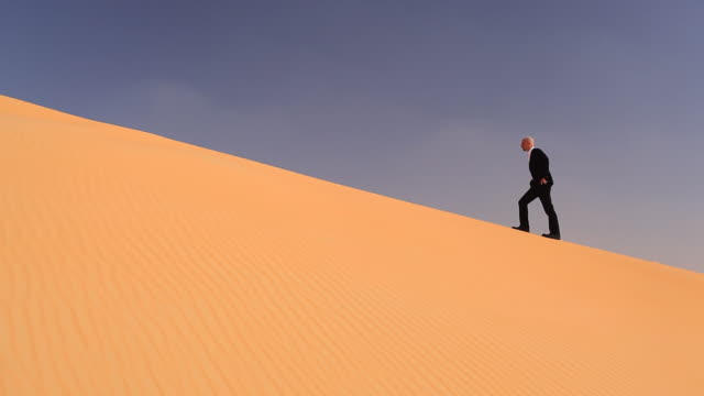businessman in desert sand  thirsty stock videos & royalty-free footage