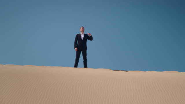 Businessman in desert video