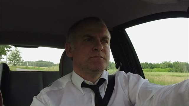 Businessman Man Commuter People Driving Car Commuting Talking With Phone video