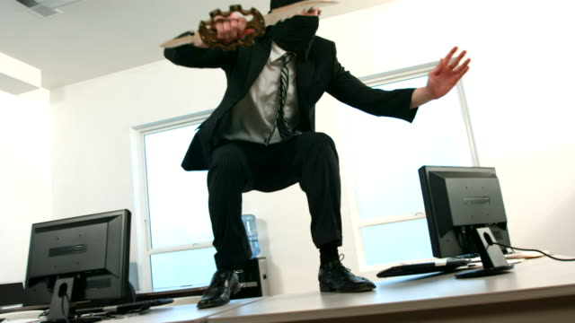 Businessman ninja  ninja stock videos & royalty-free footage