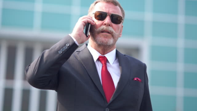 businessman on a call to partner