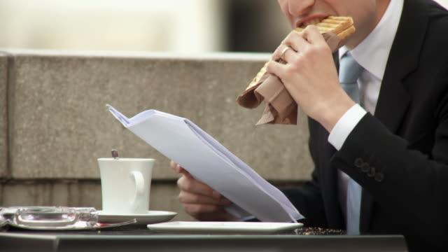 HD: Businessman On A Lunch Break video