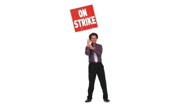 HD: Businessman On A Strike video