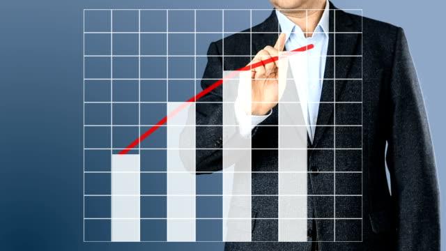Inversiones planeamiento empresario al negocio. Elección de estrategia ganar mucho dinero. Cálculo de tabla de plan de negocios. Dinero cae del cielo. Resumen antecedentes - vídeo