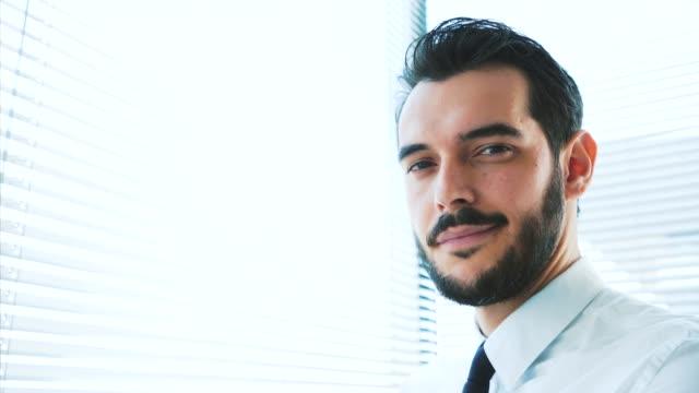 businessman portrait. - commessa video stock e b–roll