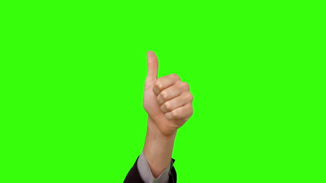 stockvideo's en b-roll-footage met businessman showing thumbs up - thumbs up