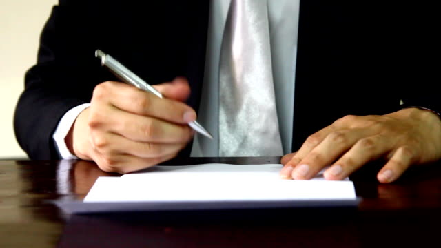 businessman signature video