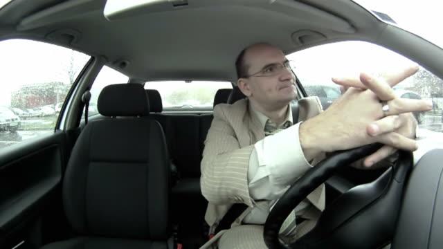 HD: Businessman Stuck In Traffic video