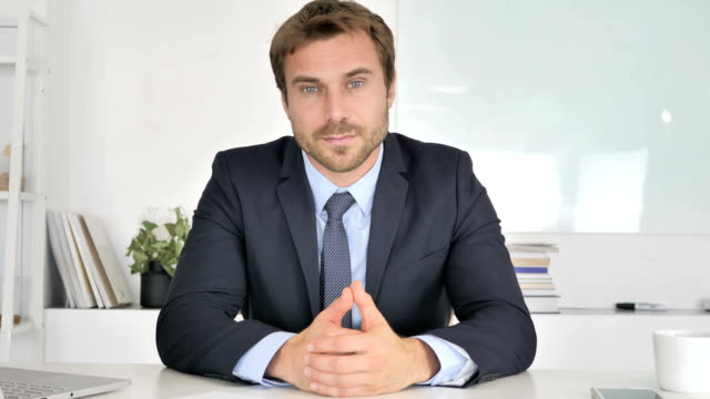 Businessman Talking During Online Video Chat