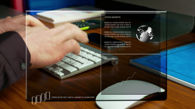 Businessman Typing On A Keyboard. Conceptual Business Video. video