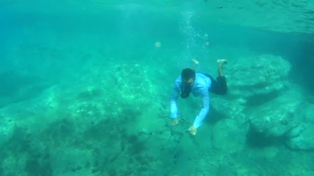 Businessman Underwater video