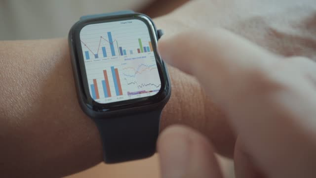 Businessman using smart watch,Close-up Businessman using smart watch,Close-up wristwatch stock videos & royalty-free footage