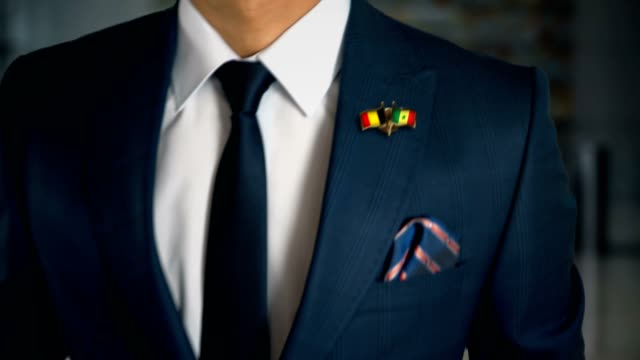 Businessman Walking Towards Camera With Friend Country Flags Pin Belgium - Senegal Businessman Walking Towards Camera With Friend Country Flags Pin Belgium - Senegal senegal stock videos & royalty-free footage