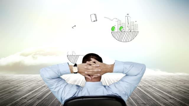 affärsman titta på business brainstorm visas - animal doodle bildbanksvideor och videomaterial från bakom kulisserna