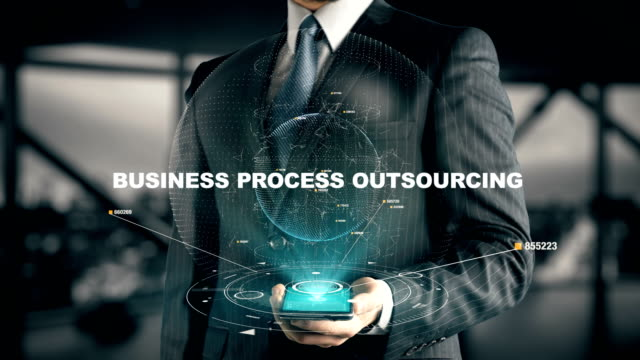 Businessman with Business Process Outsourcing
