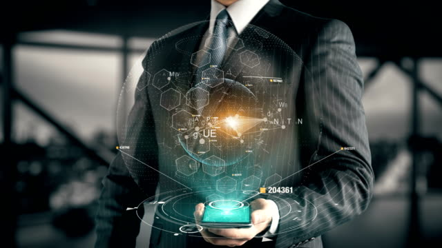 Businessman with Compliance hologram concept Businessman with hologram in the future with futuristic tablet with success words obedience stock videos & royalty-free footage