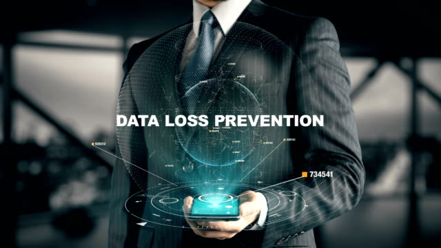 Businessman with Data Loss Prevention video