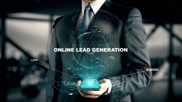 stockvideo's en b-roll-footage met zakenman met online lead generation - lood